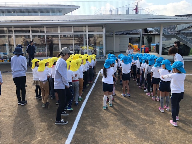 10/30(水)に行われた若穂幼稚園・須坂双葉幼稚園交流大会の様子です